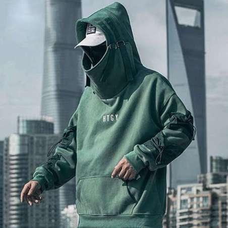 Moletom Samurai Techwear Styles Masculino Streetwear Algodão