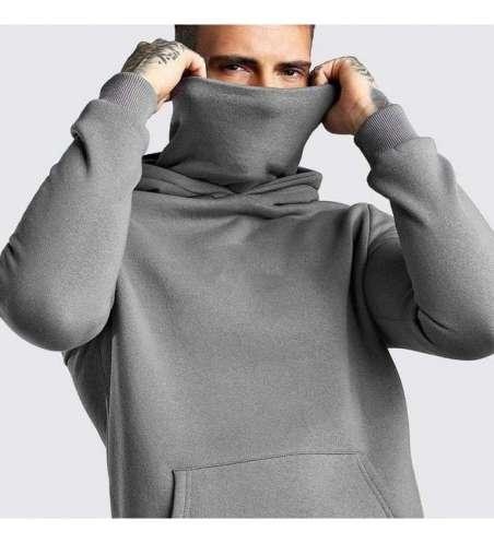 Moletom com Mascara de Rosto e Capuz Estilo Ninja Masculino