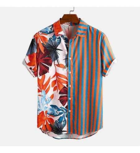 Camisa Plus Size Floral Masculina Dual Estampa Listrada