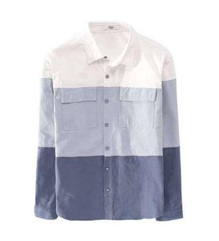Camisas masculinas Social Slim Fit Casual Listras Grosas Manga Curta