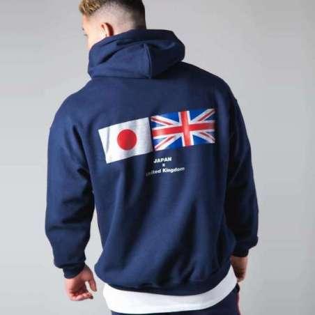Moletom Masculino Plus Size Bandeira do Japão Moda Esporte