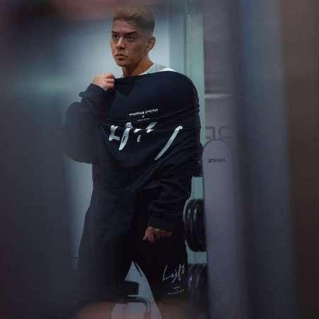 Moletom de Treino Masculino Moda Fitness com Capuz